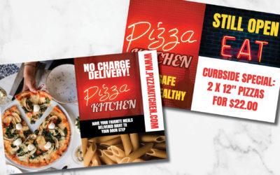 Print advertising for restaurants